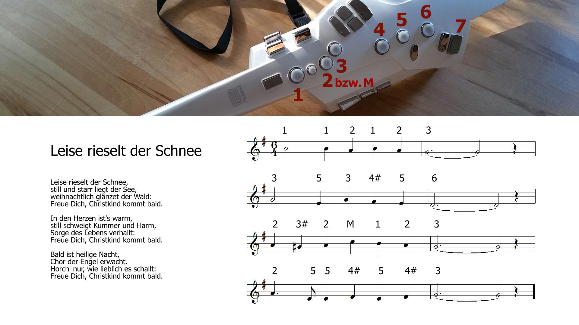 Weihnachtslieder am Saxophon / Roland Aerophone lernen: Leise ...